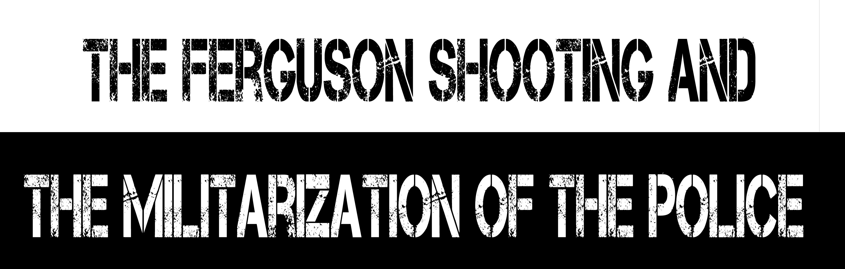 Infographic: The Ferguson Shooting and The Militarization of The Police